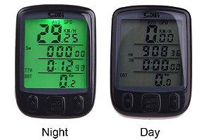 Velocímetro Bike Sunding 563b luz noturna Brinde Bateria 2032 extra Manual em português atacado revenda