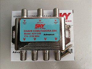 CHAVE COMUTADORA 3X4  MODELO: ADV-34B