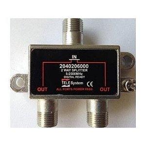 Divisor 1x2 Alta Frequência telesystem5-2500mhz Phenom 2 Saídas
