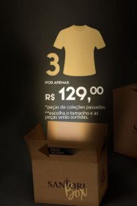 BOX SANTORI 3X T-SHIRTS SORTIDAS
