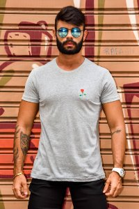 T-SHIRT BASIC ROSE GREY