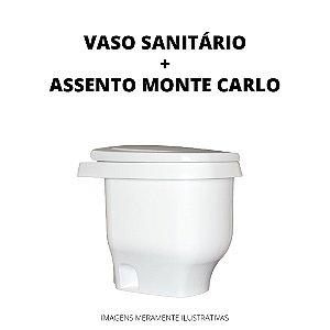Kit Vaso Sanitário Modelo Zeuz + Assento Monte Carlo Plástico Frete Grátis