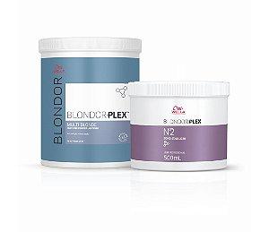 Kit Blondorplex Nº1 800g + Blondorplex Nº2 500ml Wella