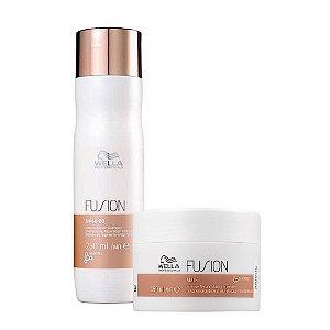Kit Wella Fusion Intense Shampoo 250Ml + Máscara 150Ml