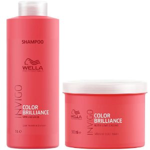 Kit Shampoo 1L E Máscara 500G Wella Brilliance Invigo