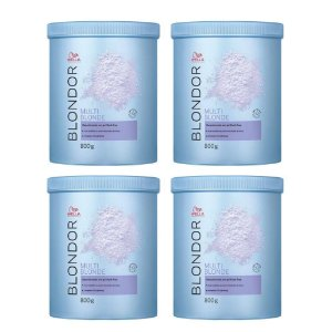 Pós Descolorantes Wella Blonde Dust-Free Powder 800G 4 Uni