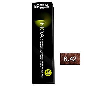 Coloração Inoa 6.42 Louro Escuro Acobreado Irisado 60g - L'Oréal Professionnel