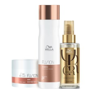 Kit Fusion & Oil Reflection (3 Produtos) - Wella Professionals