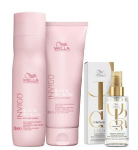 Kit Blonde Recharge Sh 250ml + Cond 200ml + Óleo Light 100ml