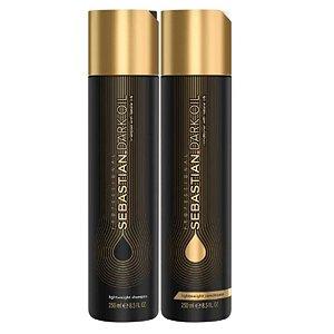 Kit Shampoo E Condicionador Sebastian Dark Oil 250Ml