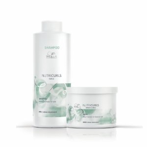 Kit Nutricurls Shampoo 1L + Máscara 500Ml - Wella Professionals