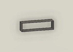 Nicho Decorativo Retangular 90x25x20 cm Com Suporte para fixação - Em MDF - TreeMobili