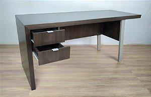 Mesa para computador com 2 gavetas - Estação de trabalho - ME4122