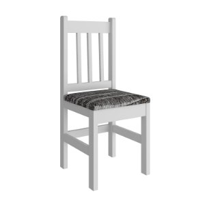Cadeira Estofada Padrão  Cor Branco/Cinza Ondulado - HB09