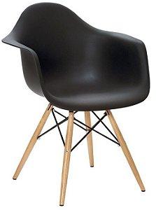 Cadeira / Poltrona Charles Eames Eiffel com Braço - Base em madeira