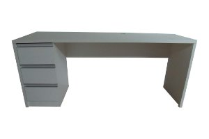 Mesa Silver Maple 180x56 com 3 gavetas - TreeMobili - Em MDF