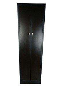 Armário Alto Multiuso 170x50x35 com portas | Em MDF Preto Fosco | TreeMobili