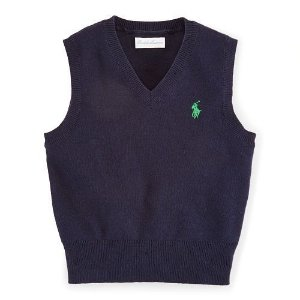 Sweater Cotton V Ralph Lauren Azul Marinho