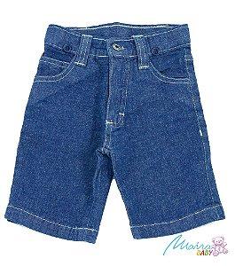 Bermuda Jeans Regulador Azul