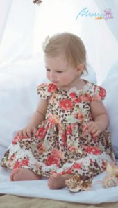 Vestido Estampa Floral com Laço