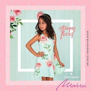 Vestido Estampa Maxxi Flores com cinto