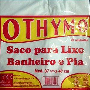 Saquinho de Lixo para Pia Branco 37x40 cm 20 unidades - Othymo