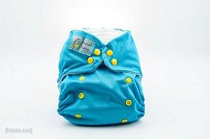 Fralda Reutilizável - Azul Celeste