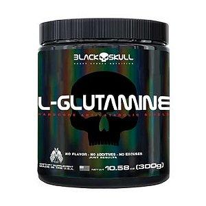 L-glutamine - Sem Sabor 300g - Black Skull
