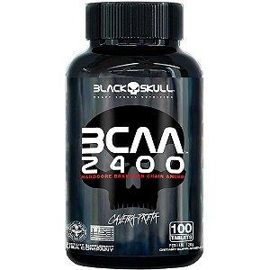 Bcaa 2400mg (100 Caps) Caveira Preta - Black Skull