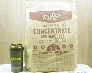 Whey Concentrado Avonlac 282 5kg - Glanbia + Coqueteleira compartimento