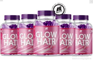Glow Hair 1 Pote Cabelos Fortes E Lindos Gummy Hair