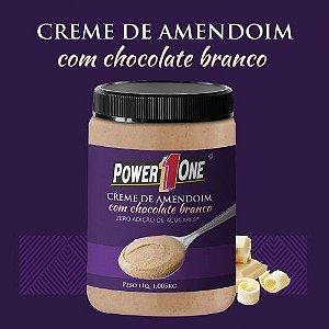 Pasta Creme de Amendoim com Chocolate Branco 1Kg - Power1One