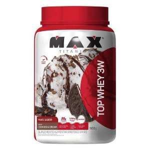 Top Whey 3w 900g - Max Titanium - Coockies e cream