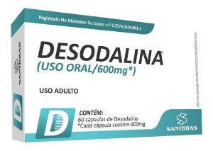 Desodalina 600mg 60 caps - SANIBRAS