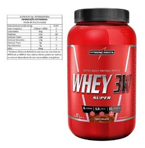 WHEY 3W INTEGRALMEDICA 907G - SABOR CHOCOLATE