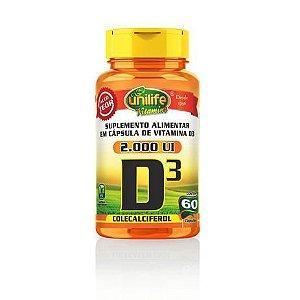 Vitamina D3 2.000 UI Unilife 60 cáps