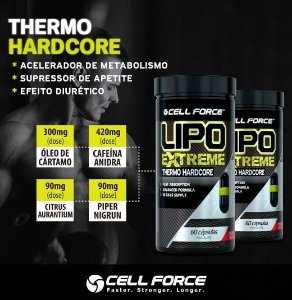 2x Lipo Extreme - Thermo Hardcore (60 Caps Cada) Cell Force