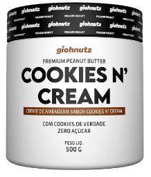 Pasta de Amendoim - GIOHNUTZ - Cookies cream 500g