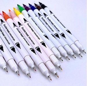 Pen Brush + Fine Line 12 cores