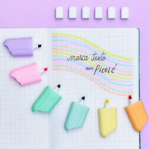 Marca texto picolé candy colors