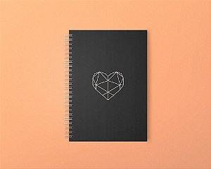 Planner Black Heart