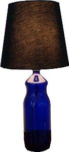 Abajur garrafa azul
