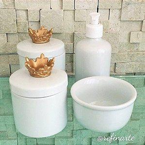 Kit Higiene Coroa Flor de Lis