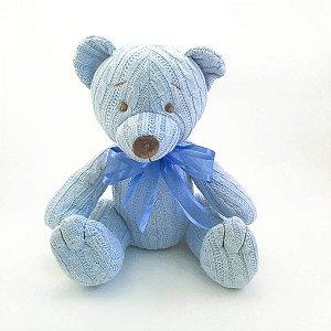 Urso Tricot Teddy Azul