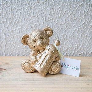 Ursinho com mamadeira gold