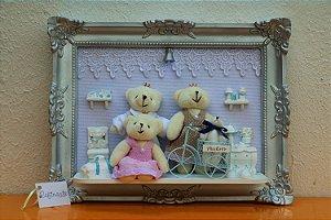 Quadro Cenário LED Família Feliz