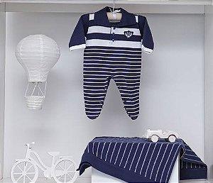 Saída de Maternidade Polo Azul Marinho