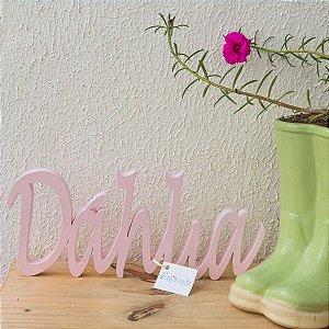 Nome Decorativo Prateleira Rosa Bebê