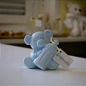 Ursinho com mamadeira blue baby