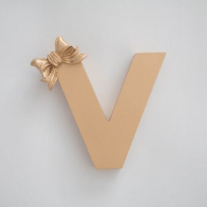 Letra Inicial Lacinho Gold